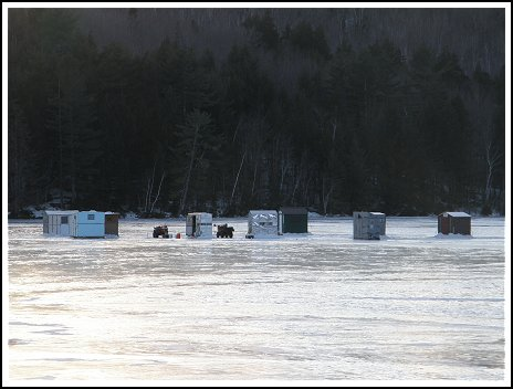 Maine USA Ice Fishing